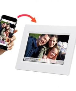 "Moldura de Fotos Digital Denver Electronics PFF-710B 7"" 8 GB WIFI Branco"