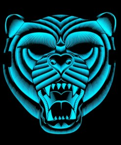 Máscara Led Tigre