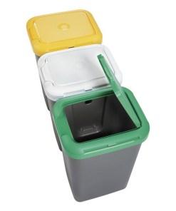 Caixote de Lixo para Reciclagem Tontarelli Plástico Cinzento (77 X 32 x 47,5 cm)