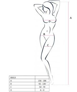 PASSION WOMAN BS013 BODYSTOCKING WHITE ONE SIZE