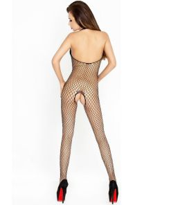PASSION WOMAN BS014 BODYSTOCKING BLACK ONE SIZE