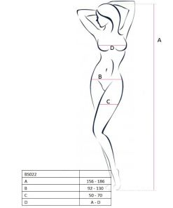 PASSION WOMAN BS022 BODYSTOCKING WHITE ONE SIZE