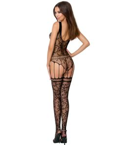 PASSION WOMAN BS051 BODYSTOCKING BLACK ONE SIZE