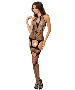 PASSION WOMAN BS053 BODYSTOCKING BLACK ONE SIZE
