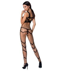 PASSION WOMAN BS058 BODYSTOCKING BLACK ONE SIZE
