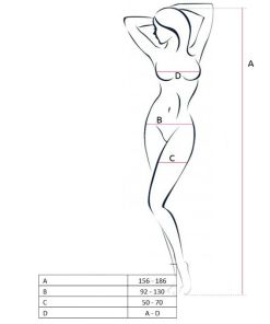 PASSION WOMAN BS047 BODYSTOCKING - WHITE ONE SIZE