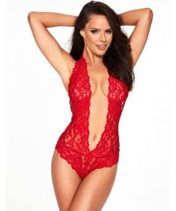 QUEEN LINGERIE BACKLESS DEEP V TEDDY - SIZE L/XL