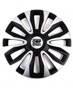 "Tapacubos OMP Magnum Speed Preto Prateado 13"" (4 uds)"