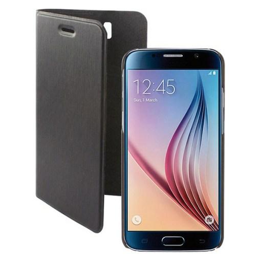 Capa tipo Livro para o Telemóvel Samsung Galaxy S6 KSIX Magnet Preto