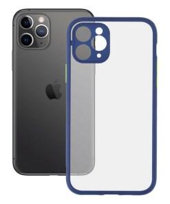 Capa para Telemóvel iPhone 11 Pro KSIX Duo Soft Azul