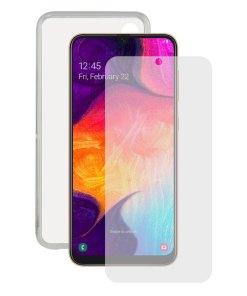 Protetor de vidro temperado para o telemóvel + Estojo para Telemóvel Samsung Galaxy A30s/A50 Contact