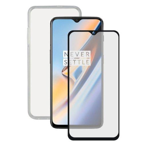 Protetor de vidro temperado para o telemóvel + Estojo para Telemóvel One Plus 6T Contact