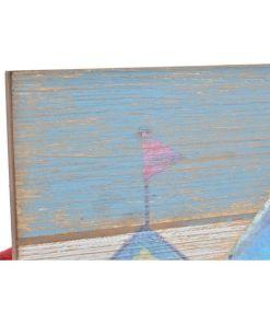 Bengaleiro de parede Dekodonia Madeira Metal (60 x 3 x 30 cm)