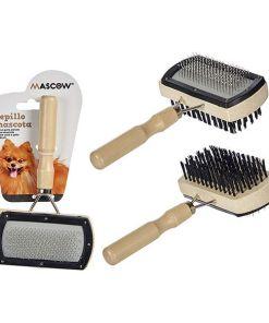Escova para Cães Madeira Aço Plástico (5 x 19 x 13,5 cm)