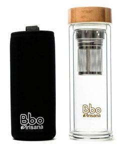 Garrafa para infusões Irisana (400 ml) Transparente Vidro de Borosilicato