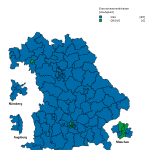 Wahlergebnis der Landtagswahl Bayern 2018- Stand 15.10.18