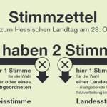Stimmzettel Landtagswahl Hessen