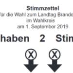 Stimmzettel Brandenburg Landtagswahl