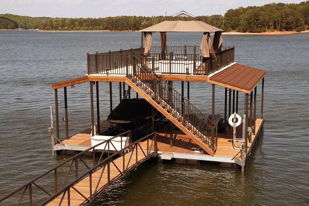 32 Foot Double Slip Docks Upper Deck Msi Rudd 01 Wahoo Docks