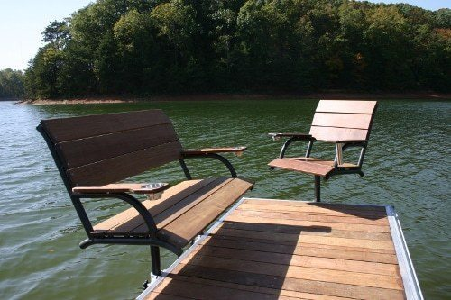 Captainu0027s Chair Boat Dock Furniture From Wahoo Aluminum Docks