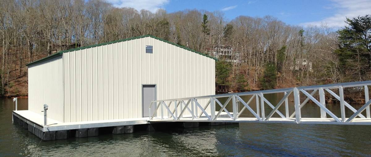 commercial floating dock - boathouse dock for commercial purposes