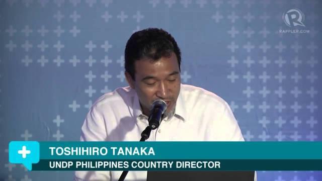 Mr. Toshihiro Tanaka UNDP country  director, Philippines.