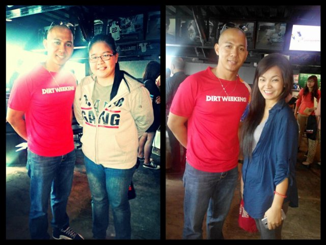 """We took courage in asking Mr. Tom Alvarez of monster radio for a photo-op. Right side is Ashley of """"Rouge Writer"""""""