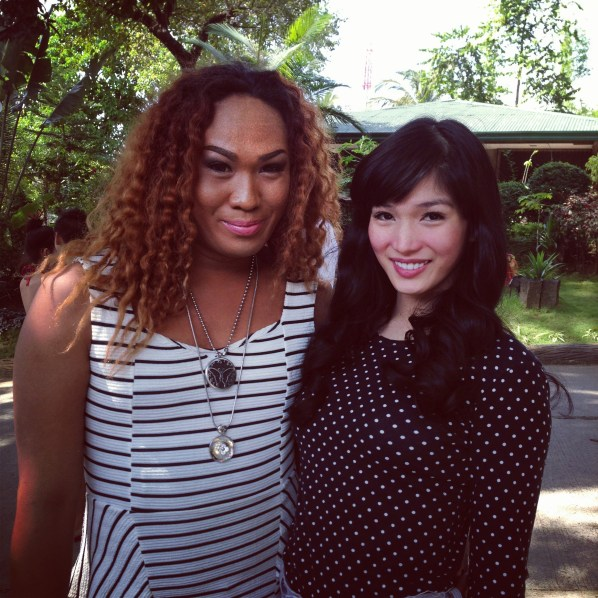 Comedian Negi and Miss International Queen 2012 Kevin Balot