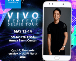 TJ Monterde is one of the performers on the Vivo Mall Tour in SM North Edsa