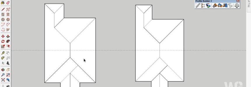 Modeling Atap Limasan Menggunakan SketchUp
