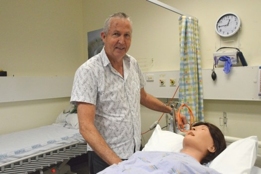 Rob Sinclair, director of Waikato Clinical Skills and Simulation Centre, with the CAE Lucina Childbirth Simulator