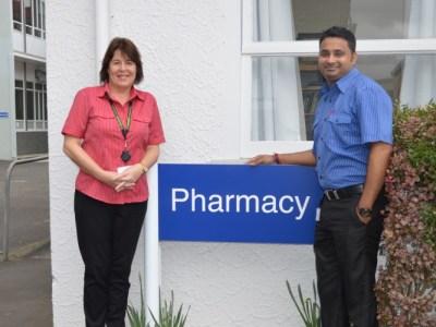Waikato DHB pharmacy technicians Vicky Codnig and Sourabh Bhalla.