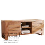 mebel buffet jati model minimalis modern,buffet finishing teak oil kayu jati alami