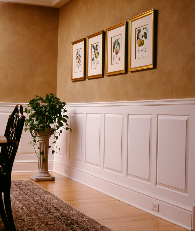 Raised and recessed panel wainscoting wainscot solutions Images of wainscoting in bedrooms
