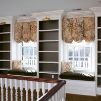 hallway window seat and Built In Cabinets by Wainscot Solutions