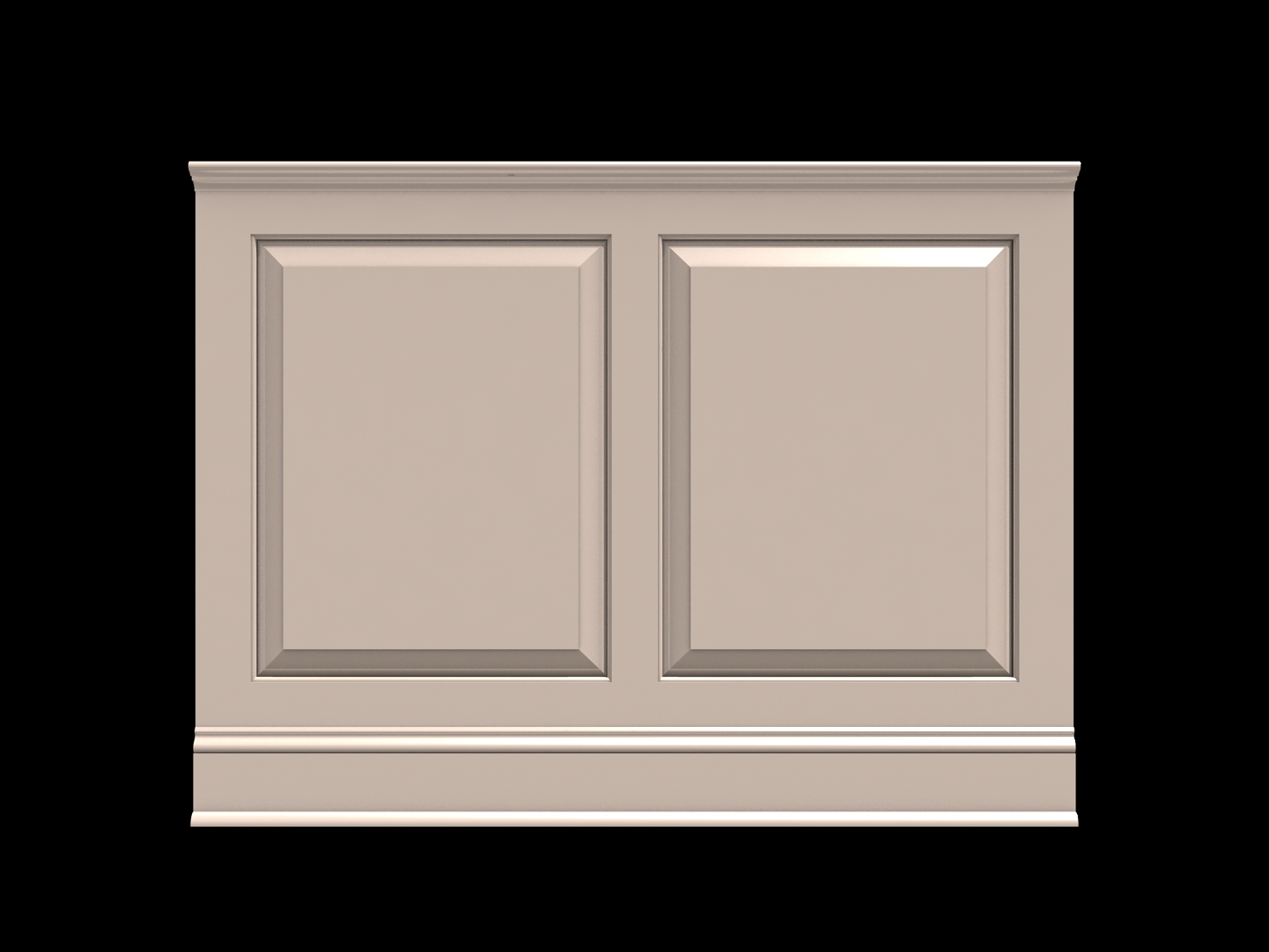 Wainscot solutions option 1 fairfield raised panel shown in 36