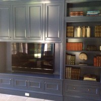Blue Built In Cabinets by Wainscot Solutions
