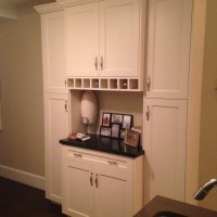 Kitchen Wine Bar Built In Cabinets by Wainscot Solutions