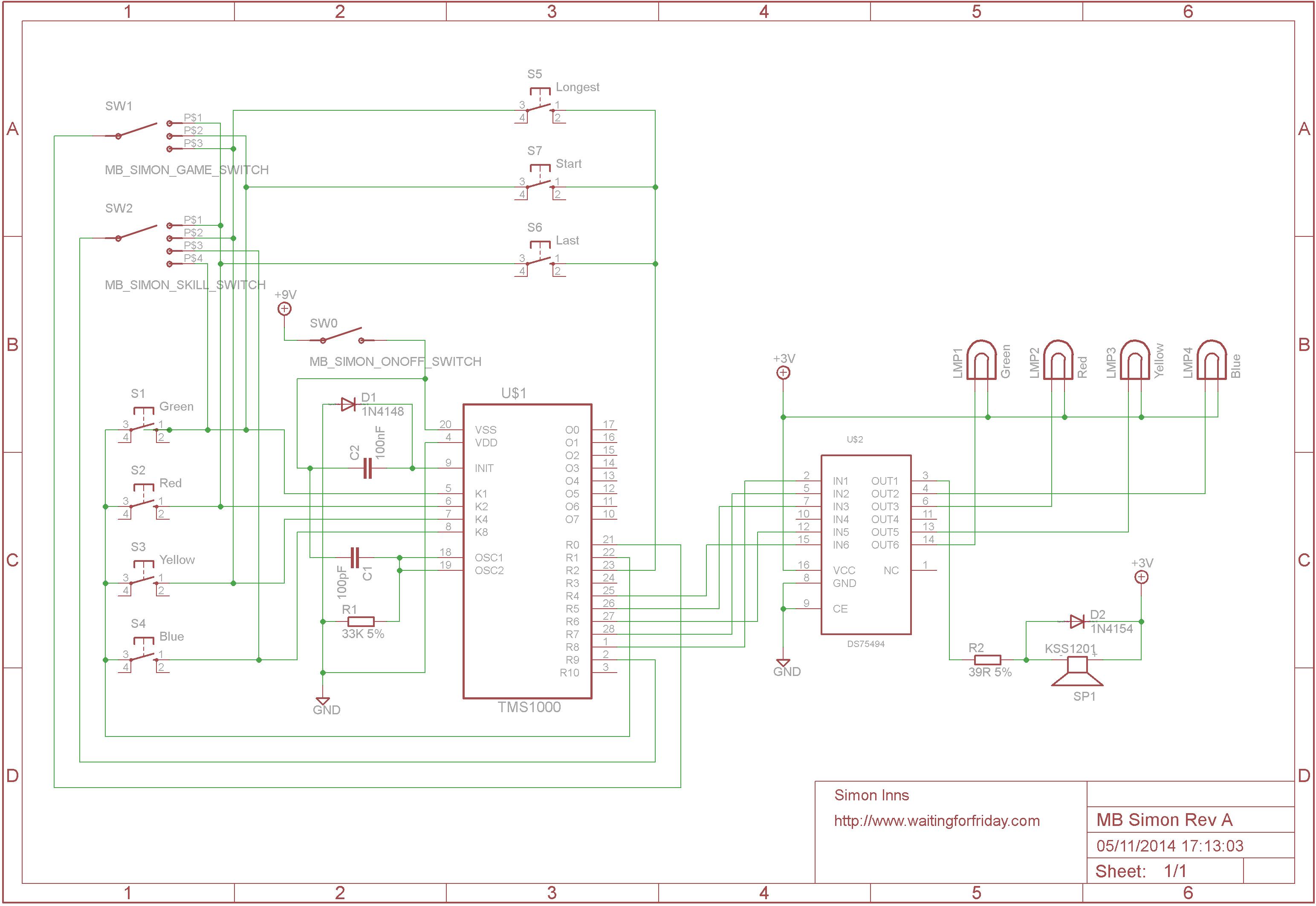 Reverse Engineering An Mb Electronic Simon Game Waiting