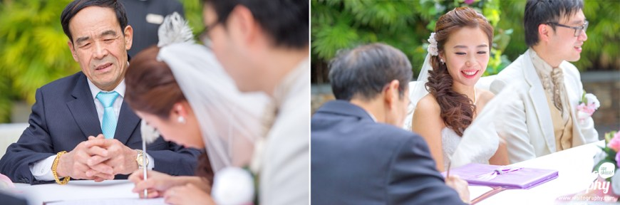 photographer don't miss any moment in a hk wedding day
