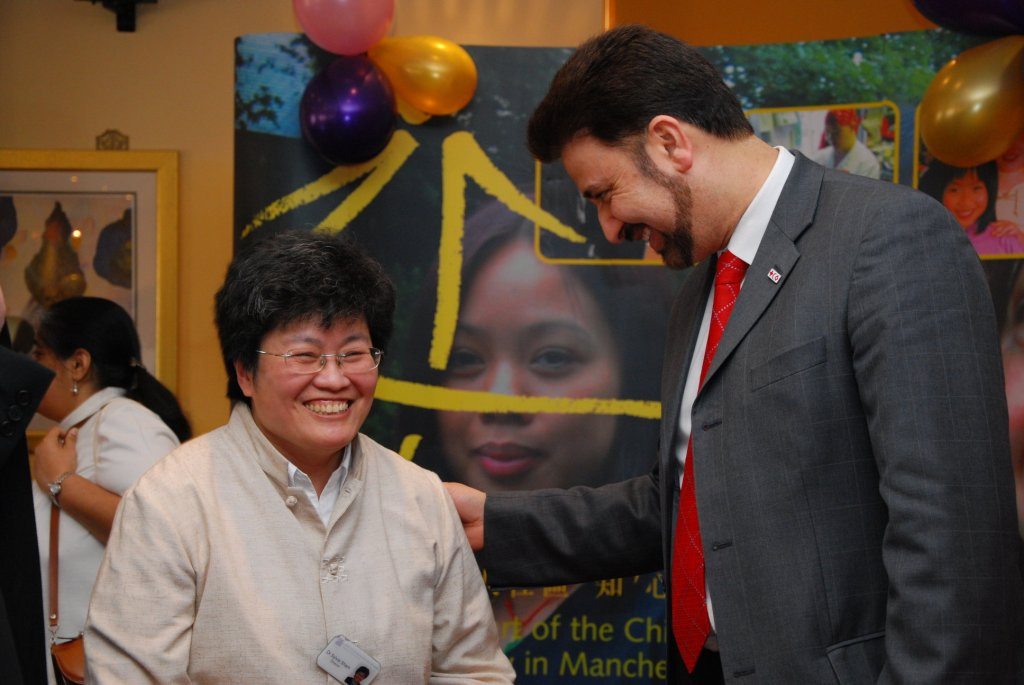 Sylvia with Mr Afzal Khan, MEP for North West England