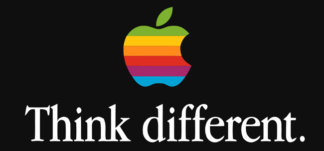"""Apple's tagline is """"Think Different."""""""