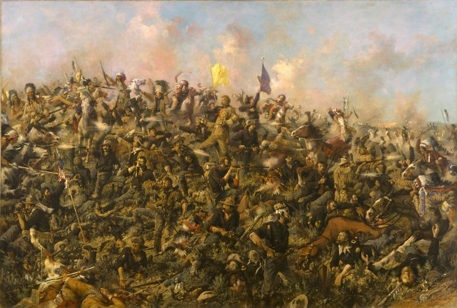 The famous picture of Custer's Last Stand by Edgar Samuel Paxson!