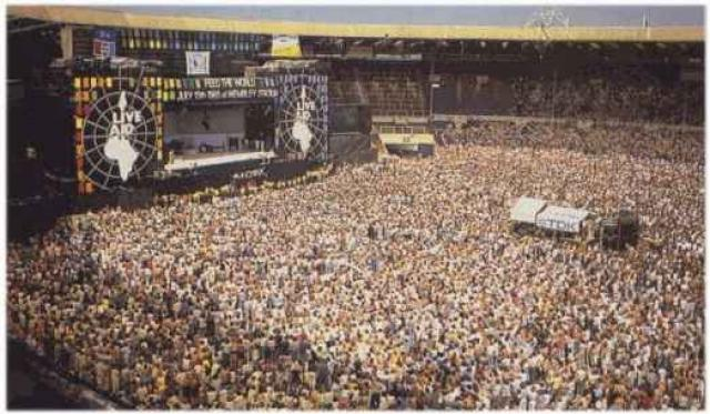 On 13th July 1985 the Live Aid concert in aid of the starving people in Africa raised three time the expected £10 million!