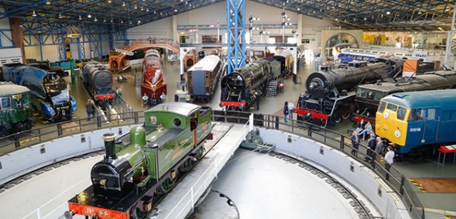 The Great Hall at the National Rail Museum in York. Rub shoulders with railway legends, from history-makers to record-breakers. This former engine shed is home to over 300 years of railway history including some of the biggest locomotives in the National Collection.