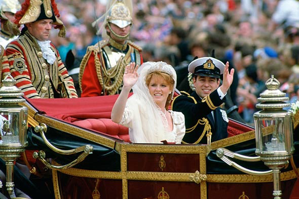 On 23rd July 1986 Prince Andrew and Sarah Ferguson had a fabulous royal wedding at Westminster Abbey watched by a TV audience of 500 million viewers who were fascinated by the pageantry of the occasion!