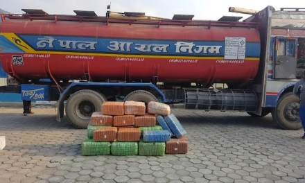 Nepali Narc Cops Nab 295 Kilos of Hash Hidden In Oil Tanker Truck