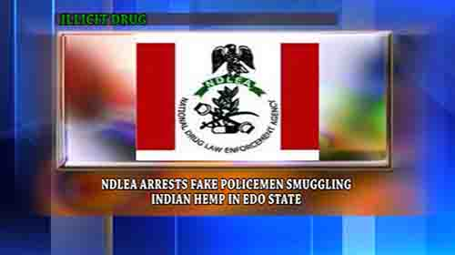 Nigerian National Drug Law Enforcement Agency has arrested two persons impersonating police suspected to be drug smugglers