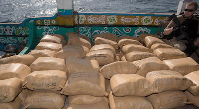 US Navy Seizes 4,700 Kilos Of Hash In The Gulf of Aden For The Second Time In A Month