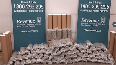 Cannabis worth €800,000 seized at Dublin parcel depot